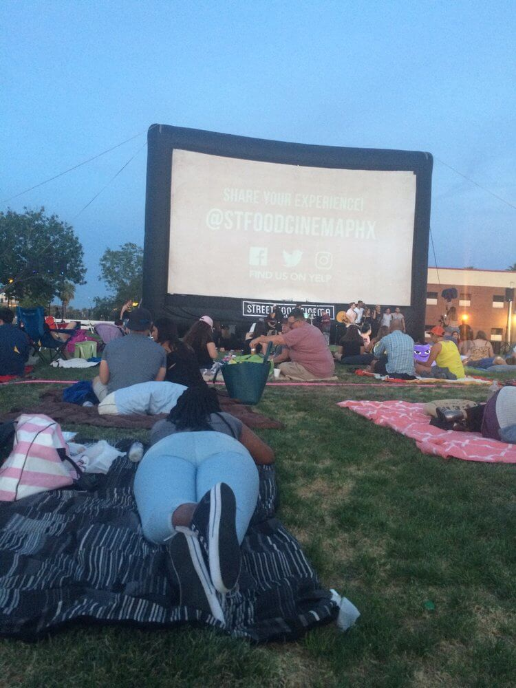 street food cinema outside movie