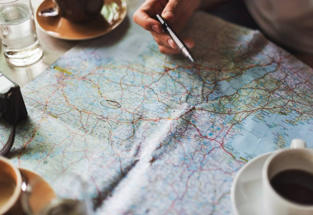 Traveling with map