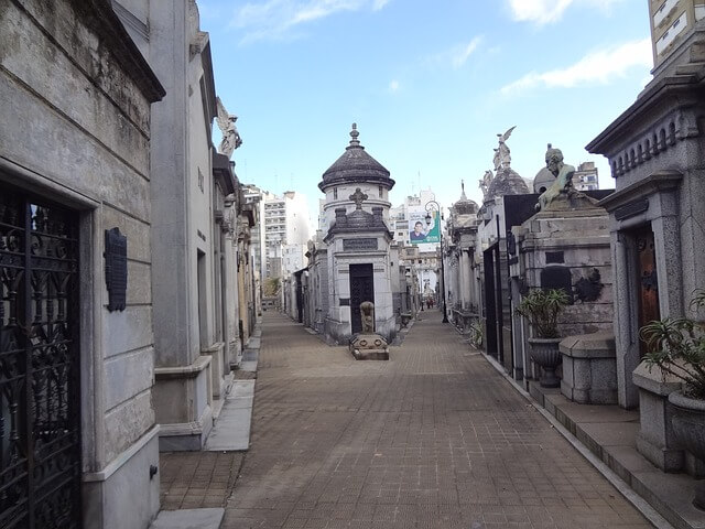 Paths in Recoleta Cemetery
