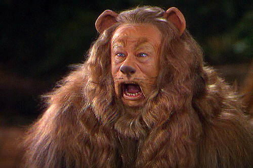 cowardly lion acting
