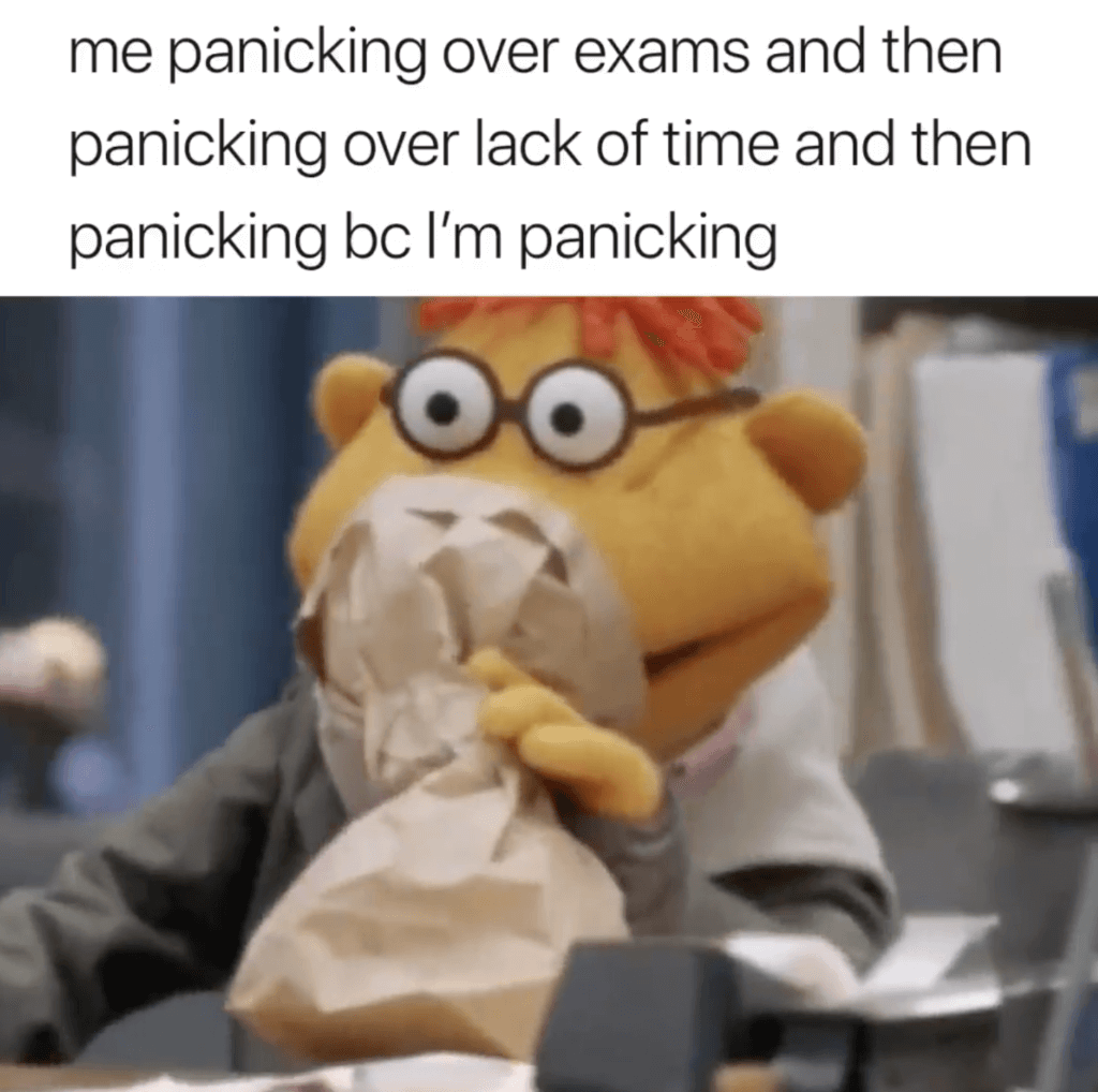 finals week memes panic over panic