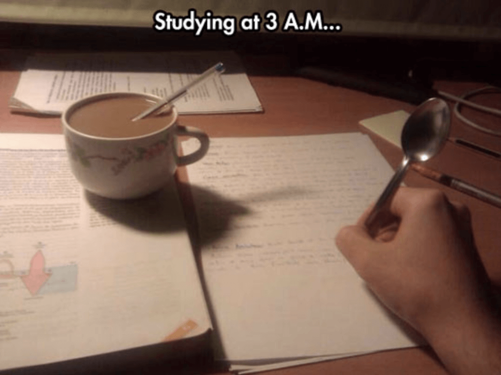 finals week memes 3 a.m. studying