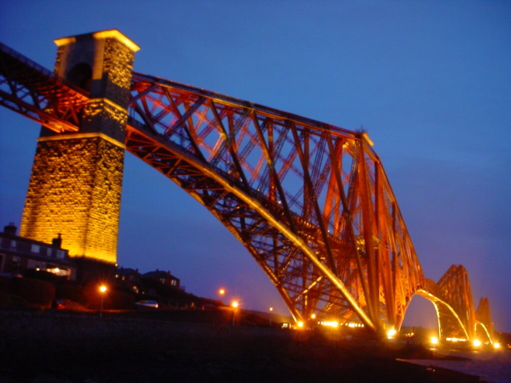 Forth Bridge Evening Edinburgh Scotland