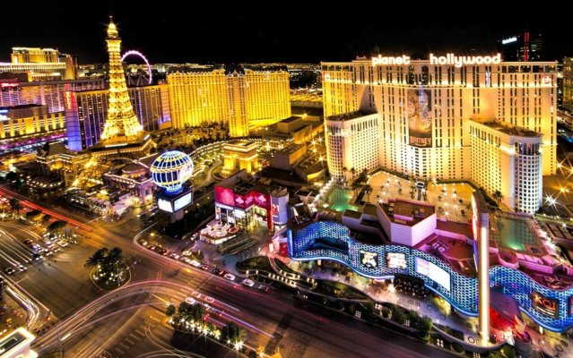 The Las Vegas strip filled with discounted student tickets and shows.