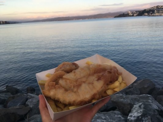 fish and chips, fish and fries, Wellington, New Zealand