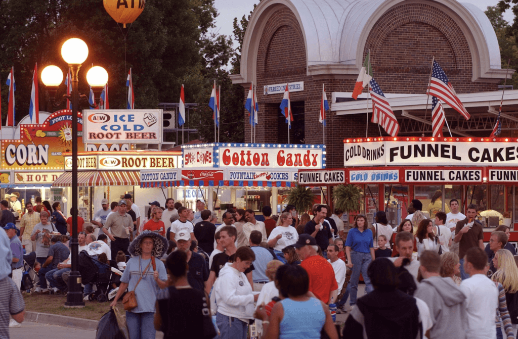 Food Vendors and Patrons at the Iowa State Fair