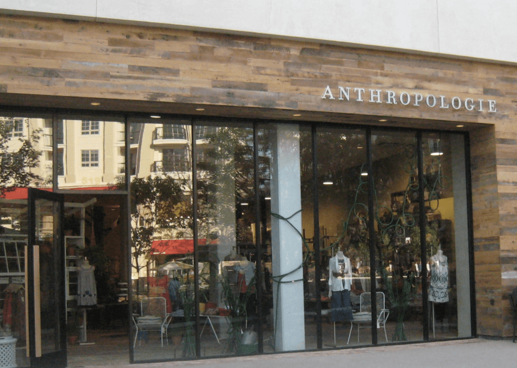 Anthropologie Storefront