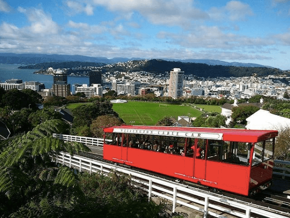 botanical gardens, cable car