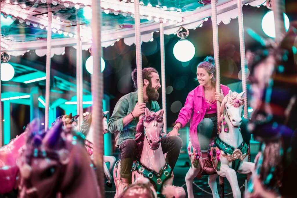 carousel couple
