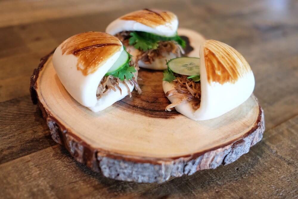 sandwich on plank