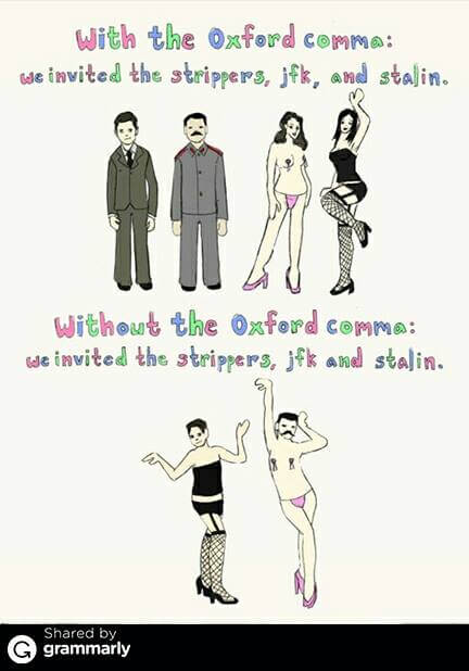 ambiguities with the oxford comma