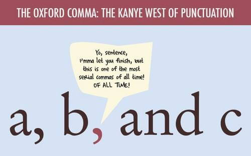 oxford comma as kanye