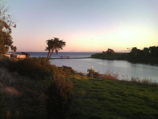 Sunset at UCSB lagoon in Santa Barbara