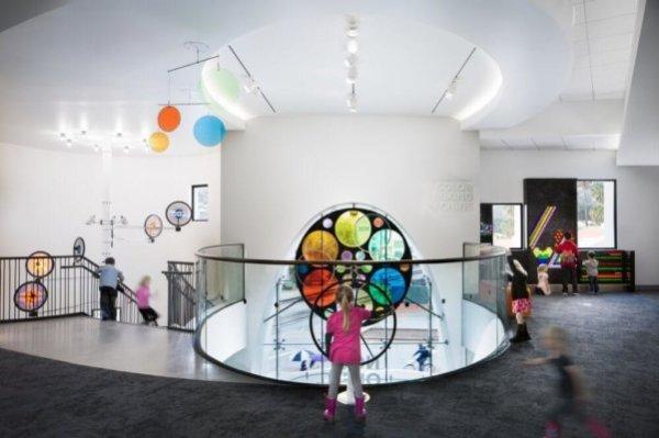 Interactive display at MOXI Museum in Santa Barbara