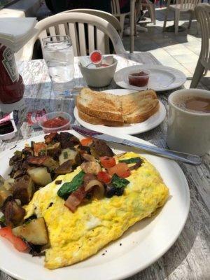 omelet at Breakwater in Santa Barbara