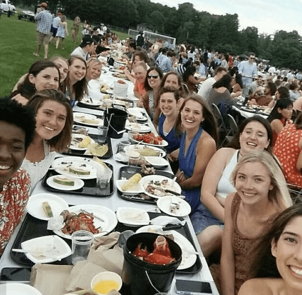lobster bake bowdoin college