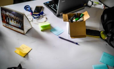 A picture of a messy desk, failure