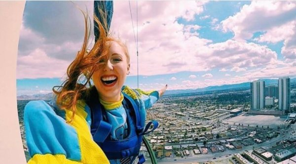 jumping off stratosphere tower