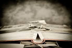 Book full of photographed memories