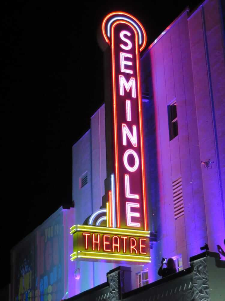 seminole theatre sign