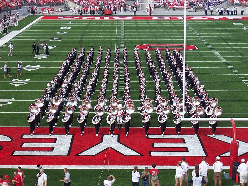 Ohio State game day marching band