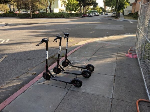 three Electric Scooters