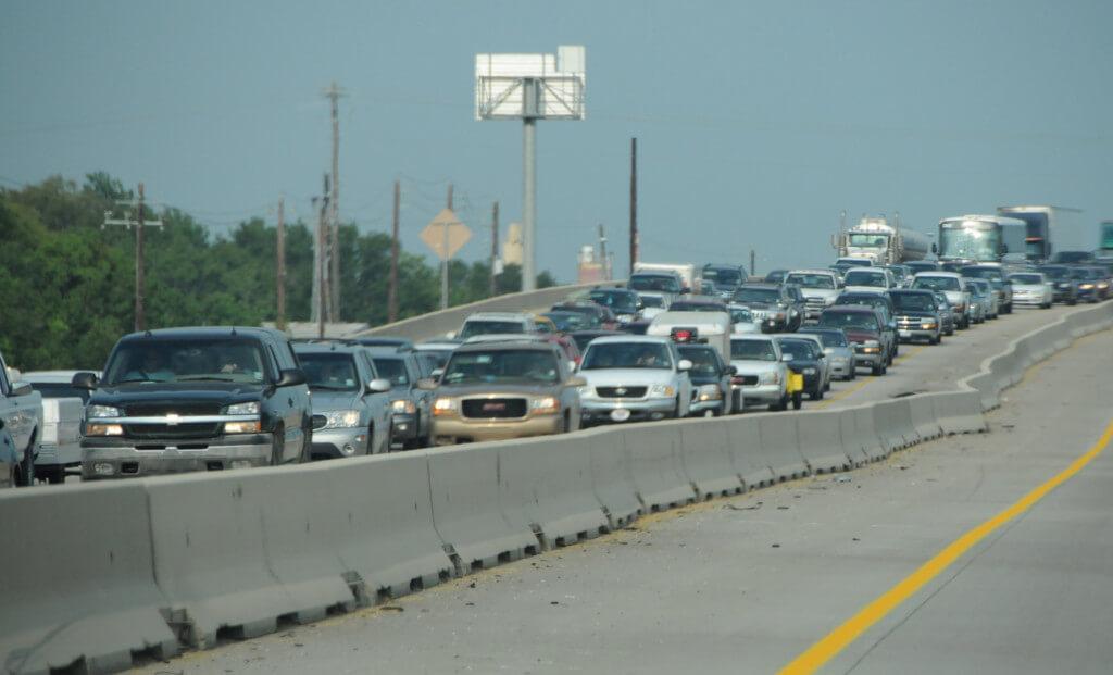 traffic leaving for hurricane