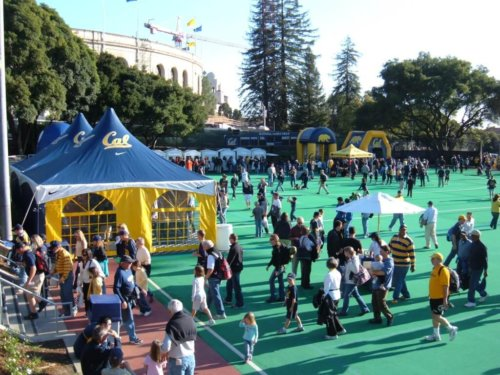 student tips- group of people at a CAL football game