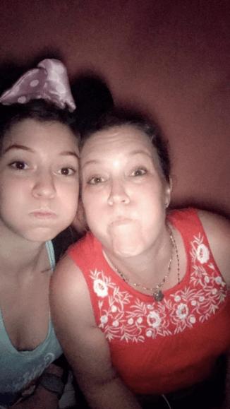 sister monkey face selfie eight siblings