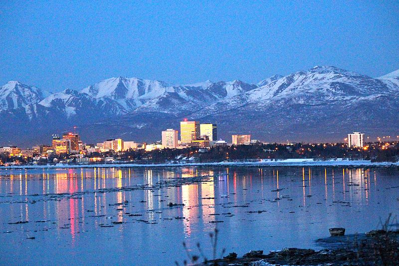 university of alaska at anchorage best colleges for skiers mountain and city skyline