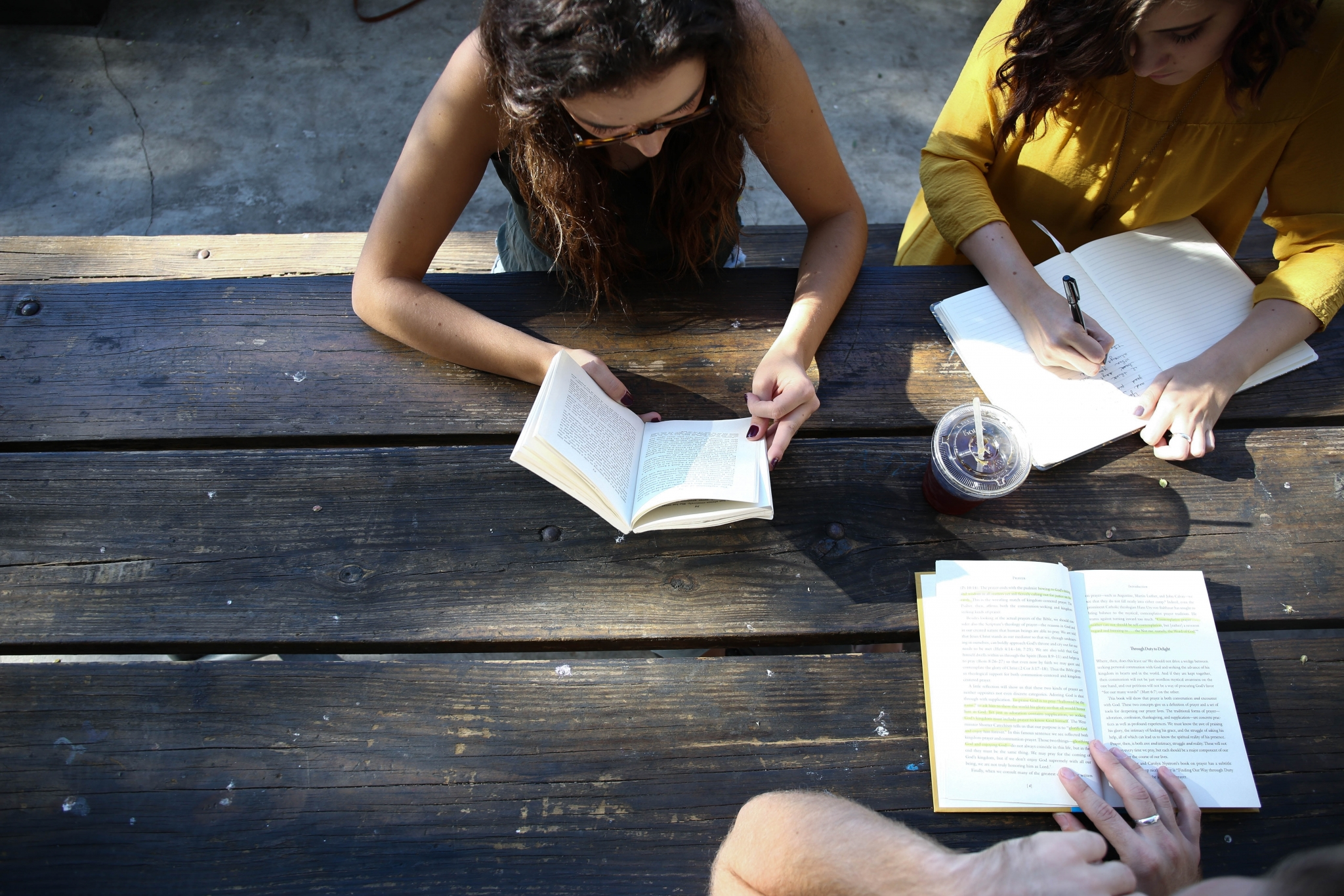 friends adult student reading