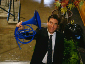 Ted How I Met Your Mother blue horn