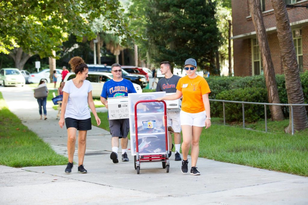 university of florida survival parents helping move in