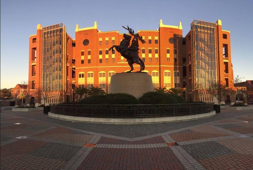 unconquered statue fsu landmark