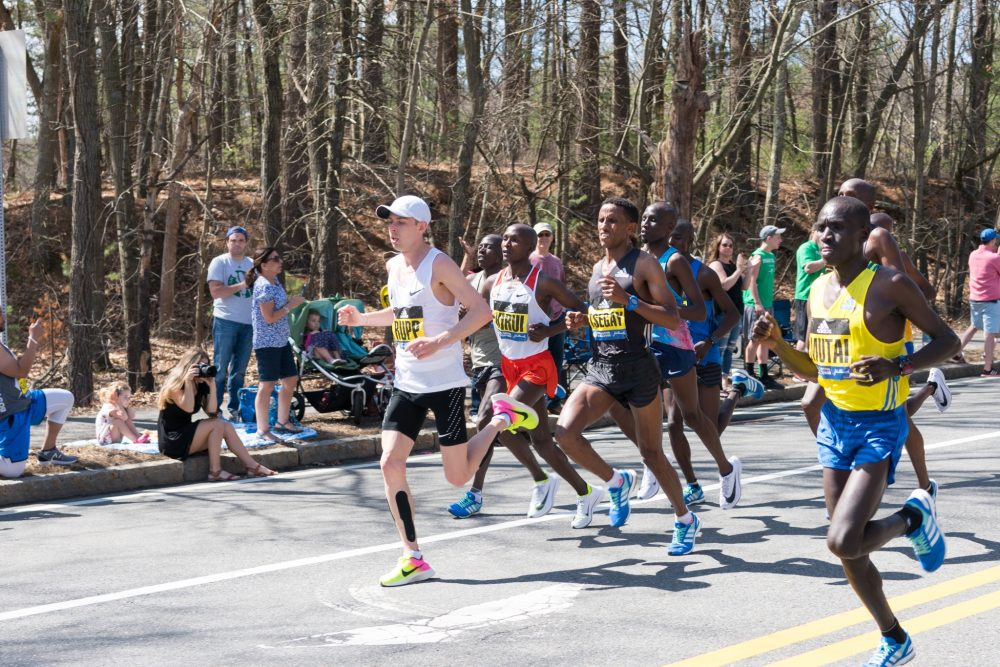 runners in Boston marathon