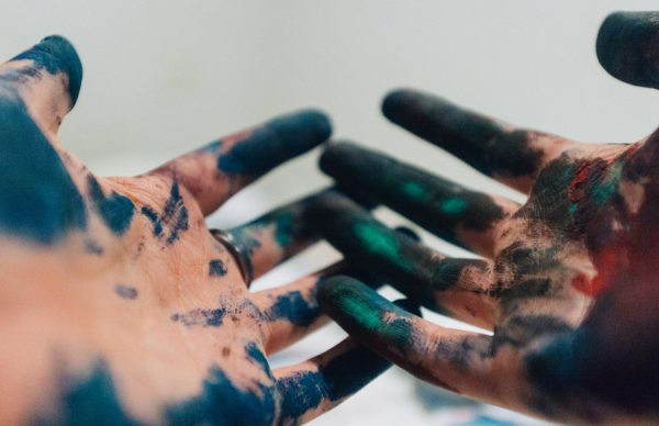 paint on hands gifts for artists
