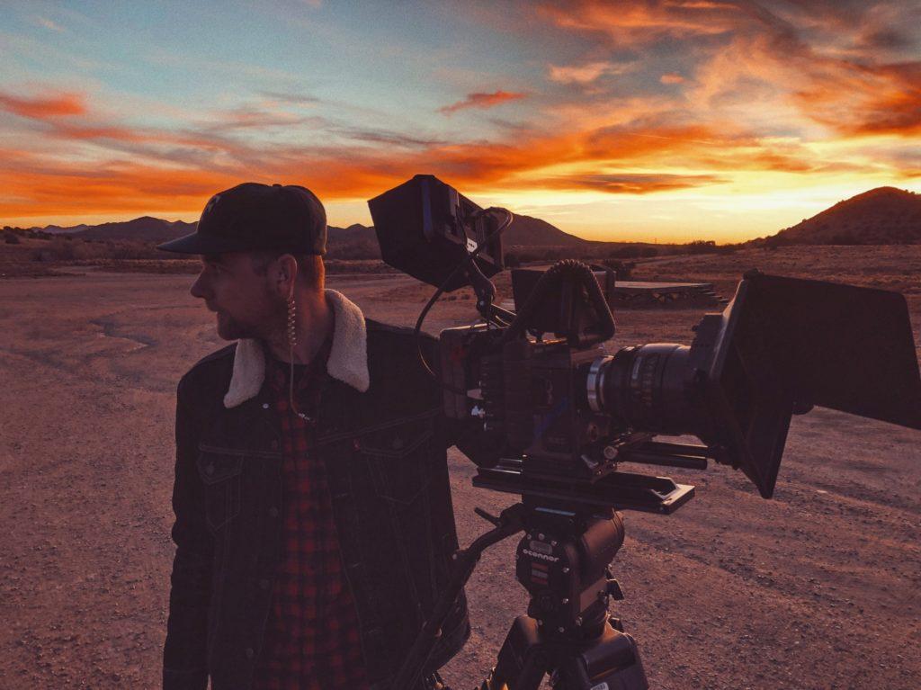 social media videographer sunset