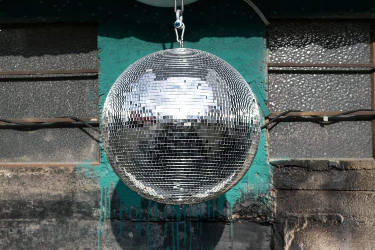 disco ball new year's eve party