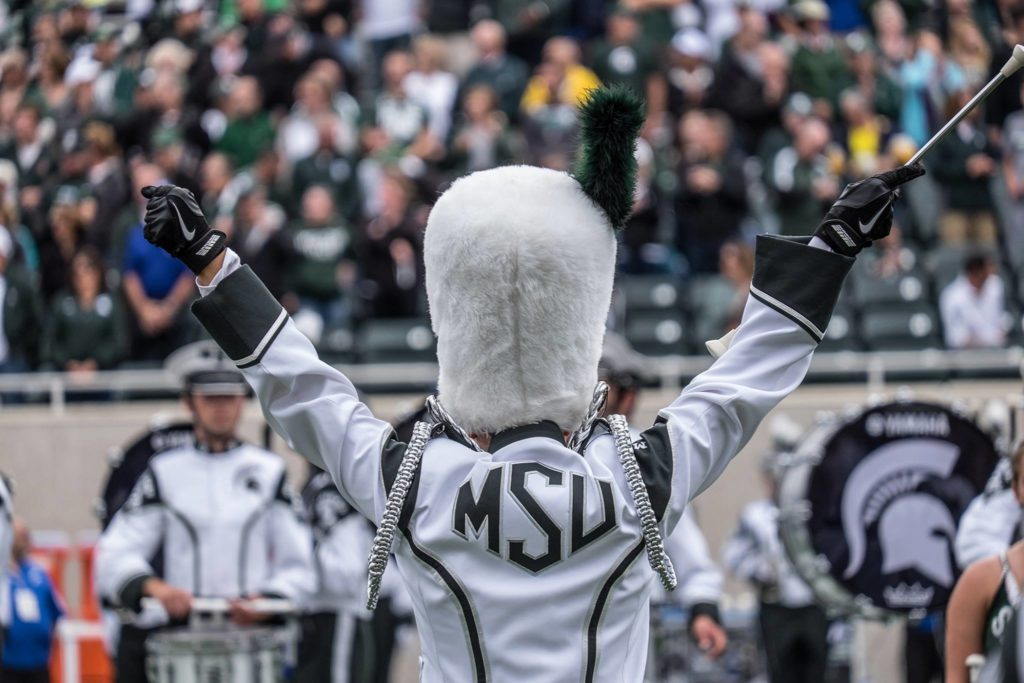 MSU band drum major