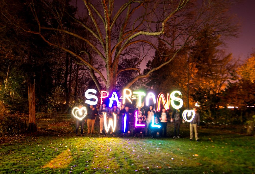 spartans will glow sign