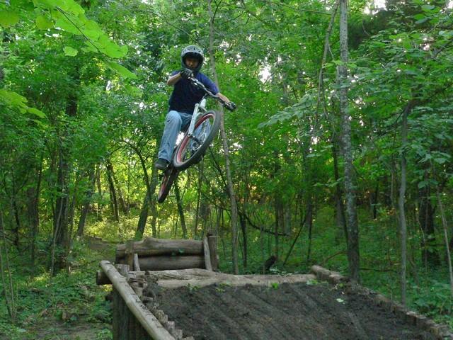 person free-ride biking