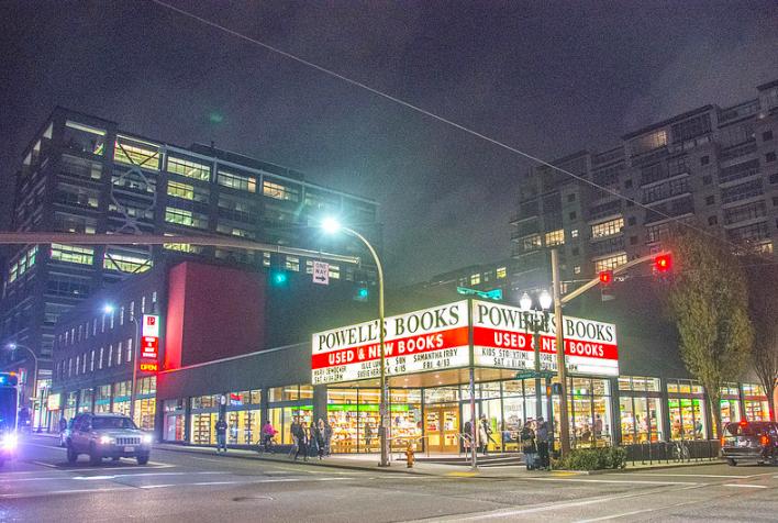book store on street corner portland
