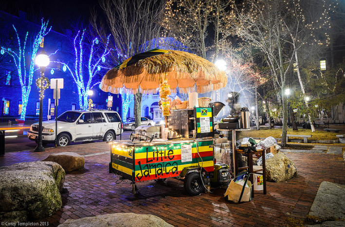 Jamaican food cart portland