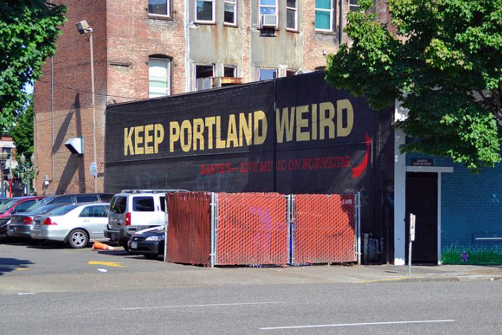 keep Portland weird sign portland