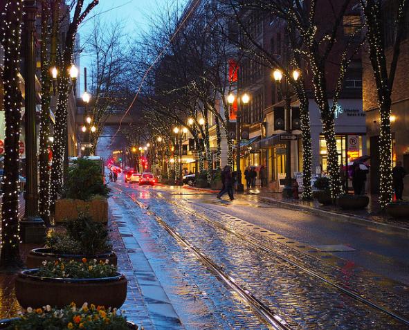 city streets Portland