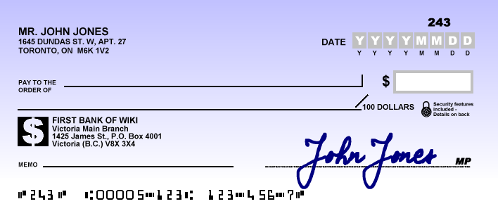 how to write a check for 1000