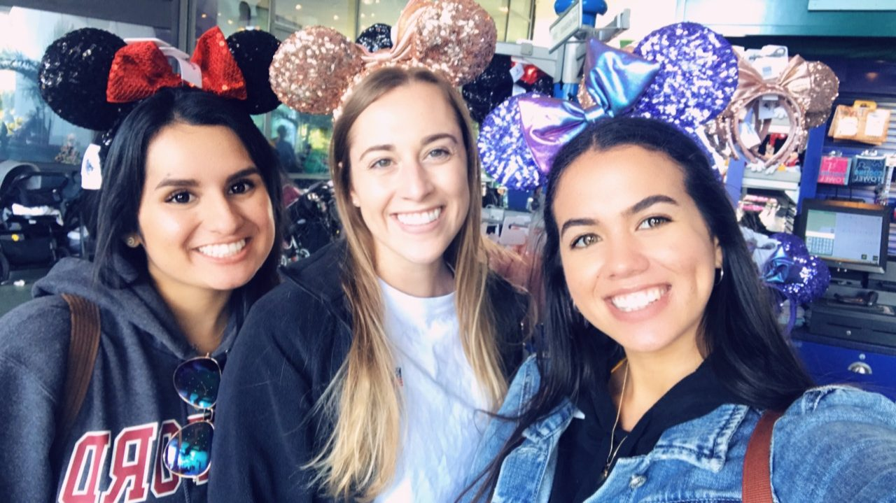 friends with mickey ears disney theme parks