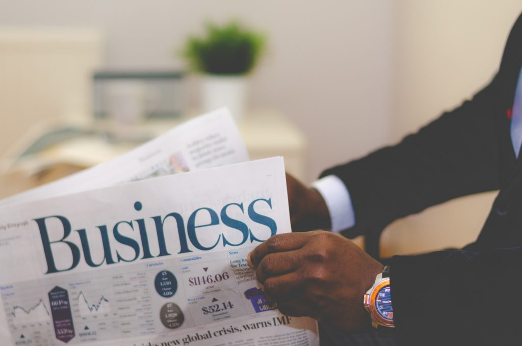 newspaper with business cover medical majors