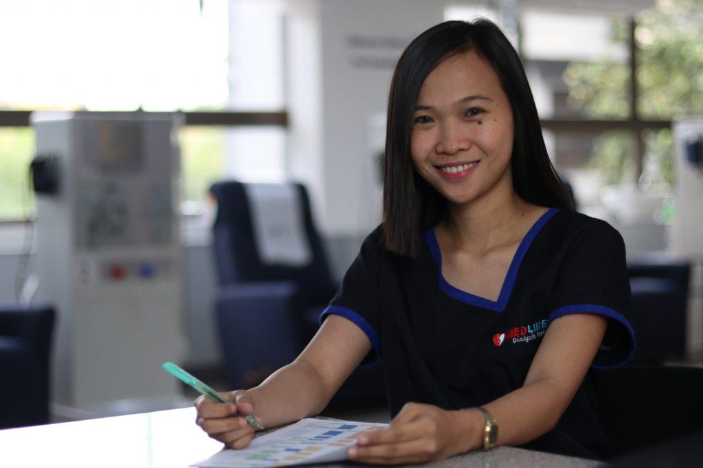 healthcare worker smiling medical majors