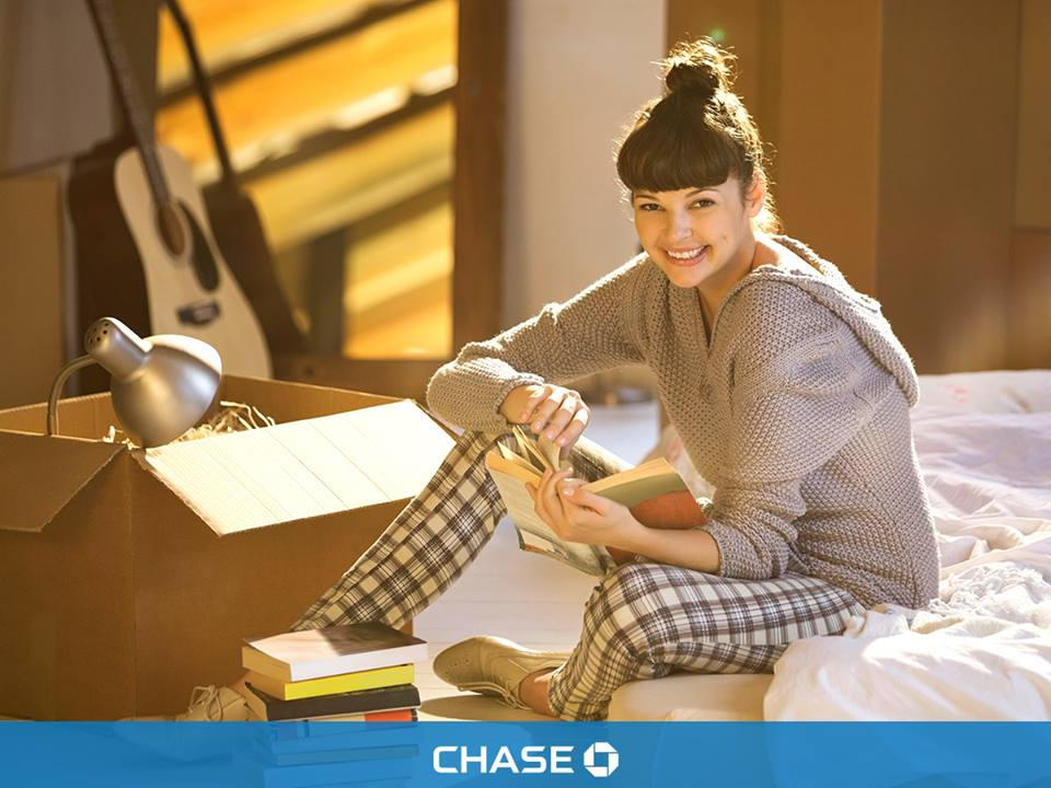 chase girl reading book best credit card benefits